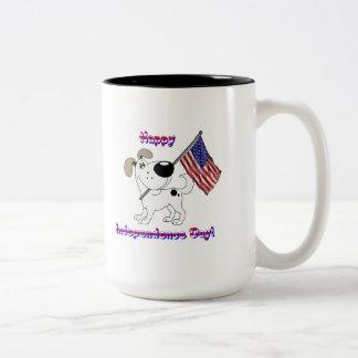 Lycklig independence day! Två-Tonad mugg