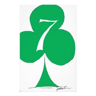 Lycklig irländare 7 av klubbar, tony fernandes brevpapper