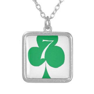 Lycklig irländare 7 av klubbar, tony fernandes silverpläterat halsband