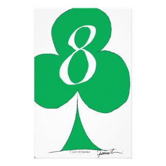 Lycklig irländare 8 av klubbar, tony fernandes brevpapper