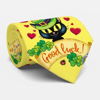 Lycklig irländsk katt! slips