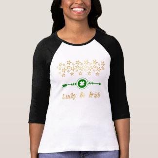 """""""Lycklig & irländsk"""" Raglanskjorta T-shirt"""