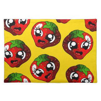 Lycklig jordgubbe bordstablett