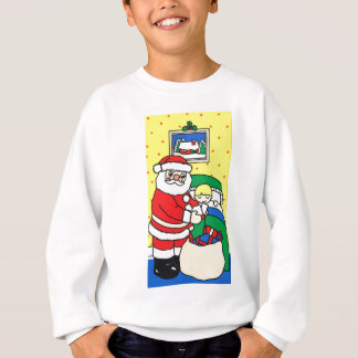 Lycklig jul, Santa, snö, gåvor, lycka T Shirt