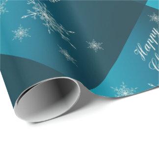lycklig jul, unikt glansigt slående in papper, presentpapper