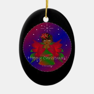Lycklig julängelbaby runt om WorldIen Julgranskula