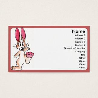 Lycklig kaninvisitkort visitkort
