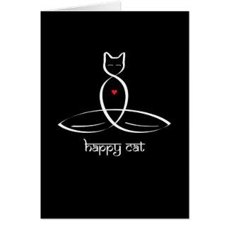 Lycklig katt - Sanskrit stiltext Hälsningskort