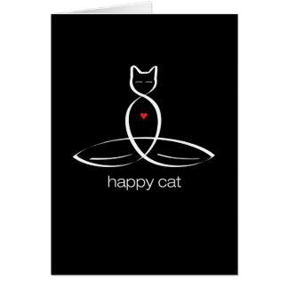 Lycklig katt - stamgäststiltext hälsningskort