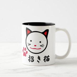 Lycklig kattmugg Två-Tonad mugg