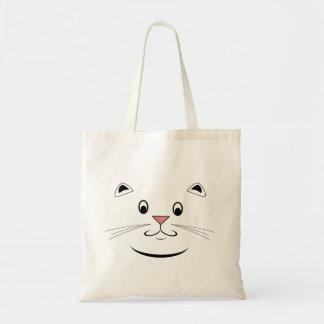 Lycklig kattungeansiktetote bags tygkasse