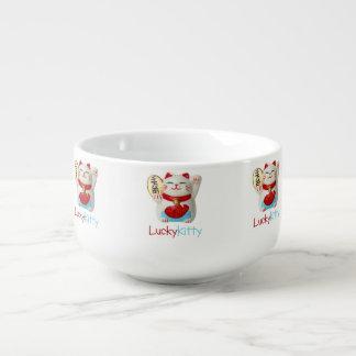 Lycklig kattungesoppabunke mugg för soppa