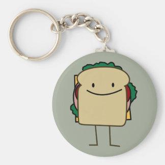 Lycklig le smörgås - klassiker rund nyckelring