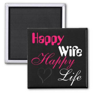 Lycklig livmagnet för rosa lycklig fru magnet