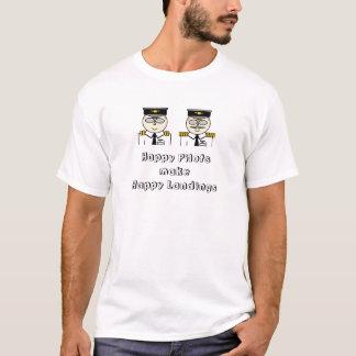 Lycklig lotsar gör den lyckliga landningT-tröja Tee Shirts