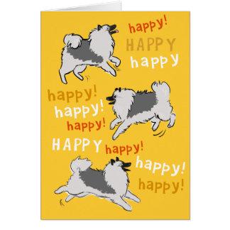 Lycklig lycklig Keeshond OBS Kort
