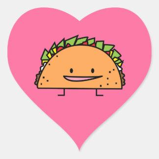 Lycklig mat för mexikan för salsa för kött för hjärtformat klistermärke