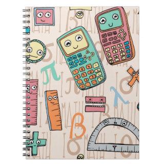 Lycklig Math Anteckningsbok Med Spiral