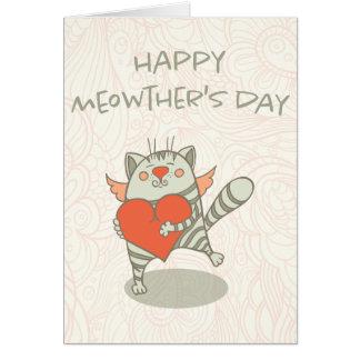 Lycklig Meowthers mors dag för mamma för dagkatt Hälsningskort