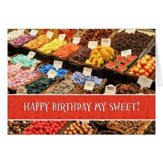 Lycklig mest sweetest dagfödelsedag blandade hälsningskort
