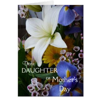 Lycklig mödrarDag-Dotter-Söt blommigt Hälsningskort