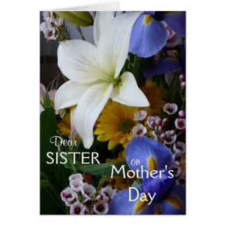 Lycklig mödrarDag-Syster-Söt blommigt Hälsningskort