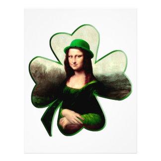 Lycklig Mona Lisa Shamrock Flygblad Designs