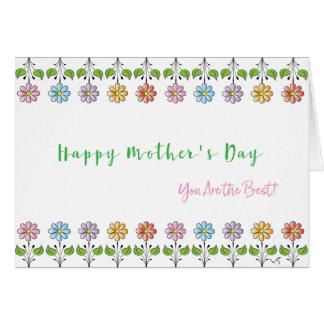 Lycklig mors dag❤️ är du de bäst blommorna hälsningskort