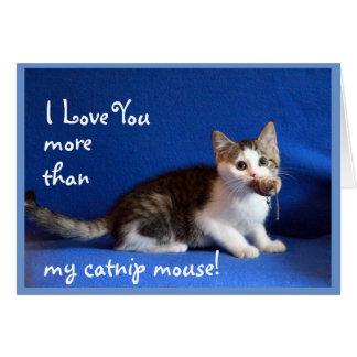 Lycklig mors dag från katten hälsningskort