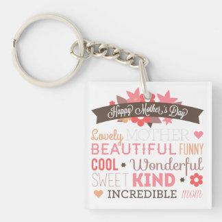 Lycklig mors dag Keychain för oerhörd mamma