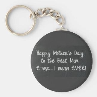Lycklig mors dag Keychain Rund Nyckelring