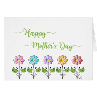 Lycklig mors dag❤️ med blommagrönt hälsningskort
