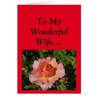 Lycklig mors dag till min fru! hälsningskort