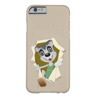 Lycklig mus för grå färg i Mouseholetelefonfodral Barely There iPhone 6 Skal