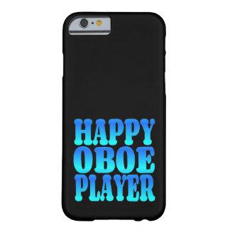 Lycklig Oboe spelare i blått Barely There iPhone 6 Fodral