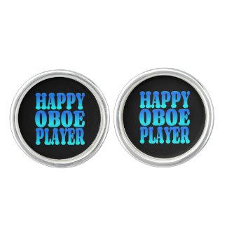 Lycklig Oboe spelare i blått Cufflinks