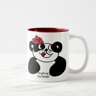 LYCKLIG PANDAförväntanmugg Två-Tonad Mugg
