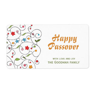 Lycklig påskhögtid - Gif-etikett Fraktsedel