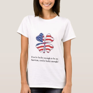 Lycklig patriot tee shirts