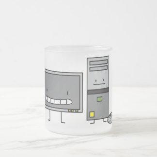 Lycklig PCdator DET familj Frostad Glas Mugg