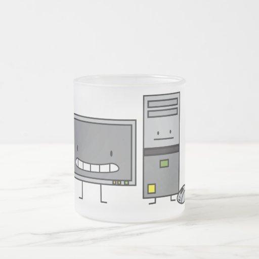 Lycklig PCdator DET familj Muggar