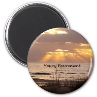 Lycklig pension - Florida havsolnedgång Magnet