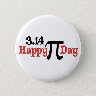 Lycklig Pi-dag 3,14 - mars 14th Standard Knapp Rund 5.7 Cm