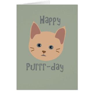 Lycklig Purrr-dag Hälsningskort
