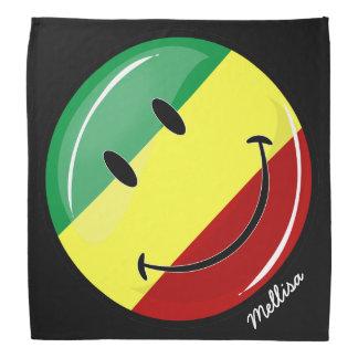 Lycklig Rasta för glansig runda flagga Kerchiefs