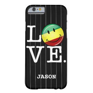Lycklig Rasta för Rastafarian kärlek flagga Barely There iPhone 6 Fodral