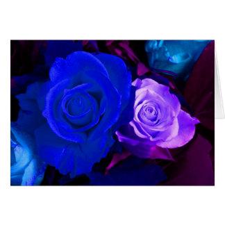 Lycklig ro för mors dagblåttlilor III Hälsningskort