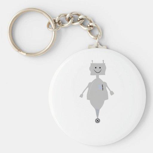 Lycklig robot nyckelring
