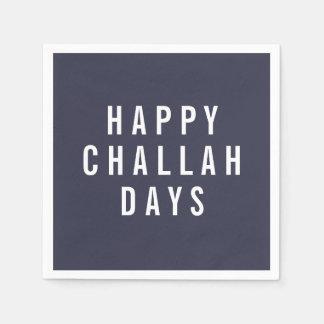 Lycklig rolig helgdag Hanukkah för Challahdagar | Pappersservetter