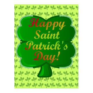 Lycklig saint patrick's dayShamrock Vykort